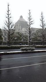 トモタロウBLOG-国会議事堂雪